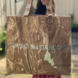 Comme des garcons CDG Paper Tote Bag  Size: ONE SIZE  Color: Brown tan  Condition: New
