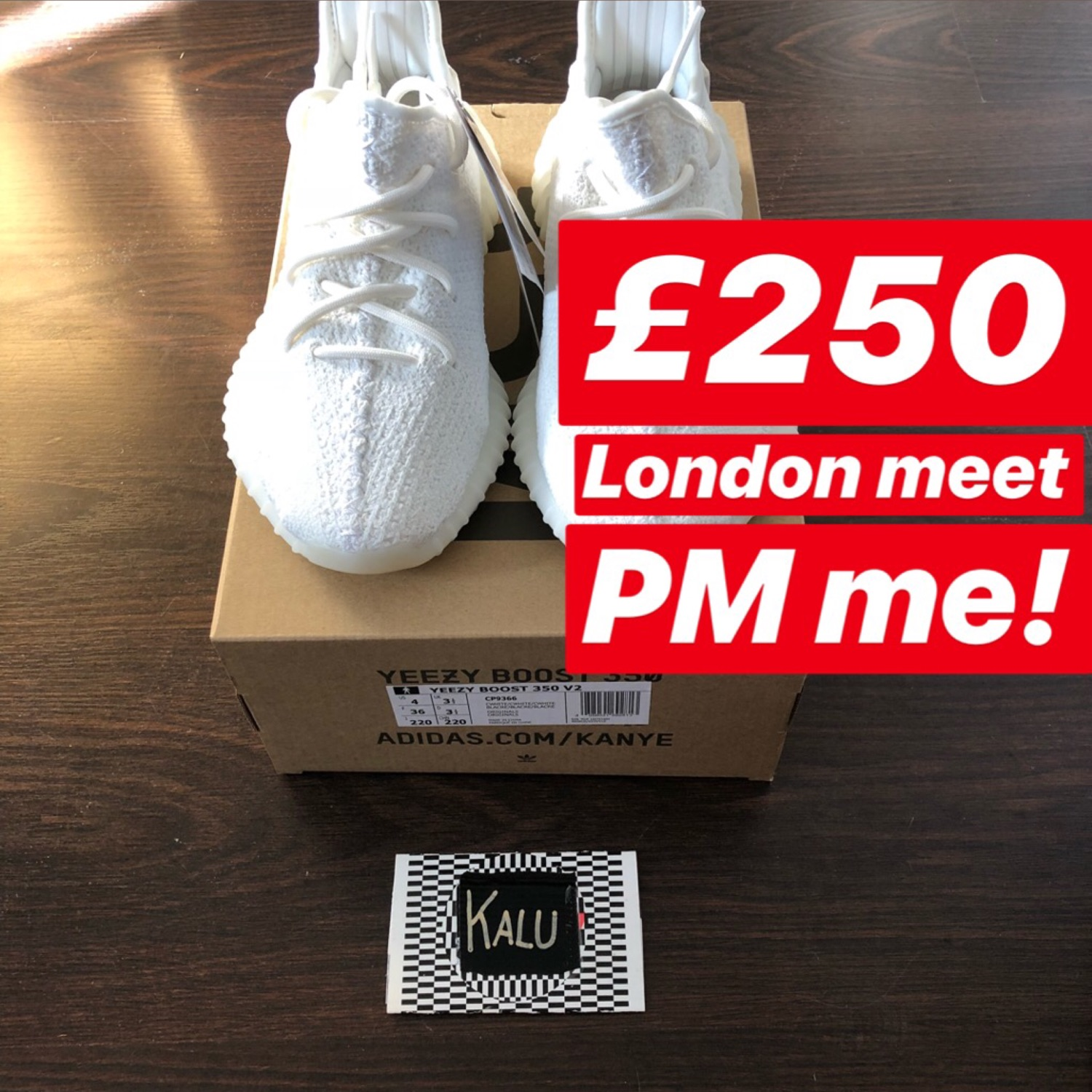 8b055b566d837 Adidas Yeezy Boost 350 V2 Triple White Cream Uk3.5