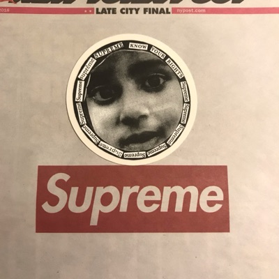 Supreme Kid Face Sticker