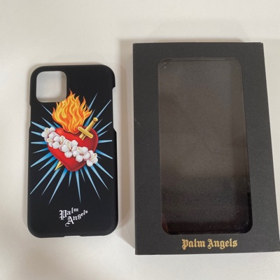 Palm Angels Iphone 11 Pro Case Heart Print