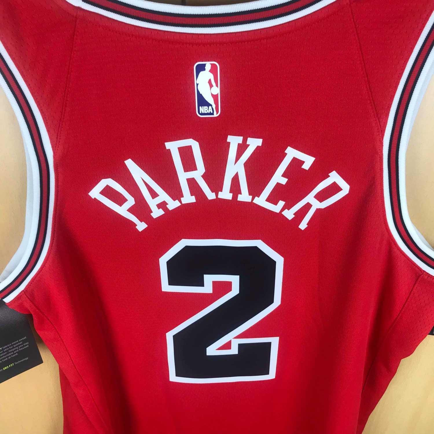 huge selection of e5f9d b8aed Jabari Parker Chicago Bulls Nike Nba Jersey L