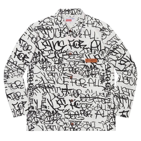 Supreme X Comme Des Garcons Printed Canvas Coat