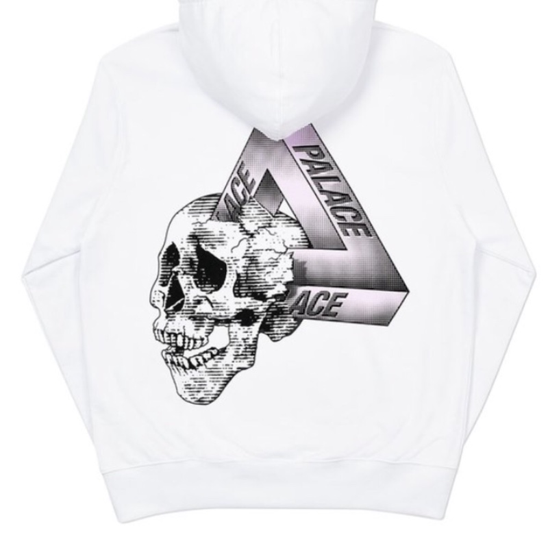 Palace Tri Crusher Hoodie Large White DS