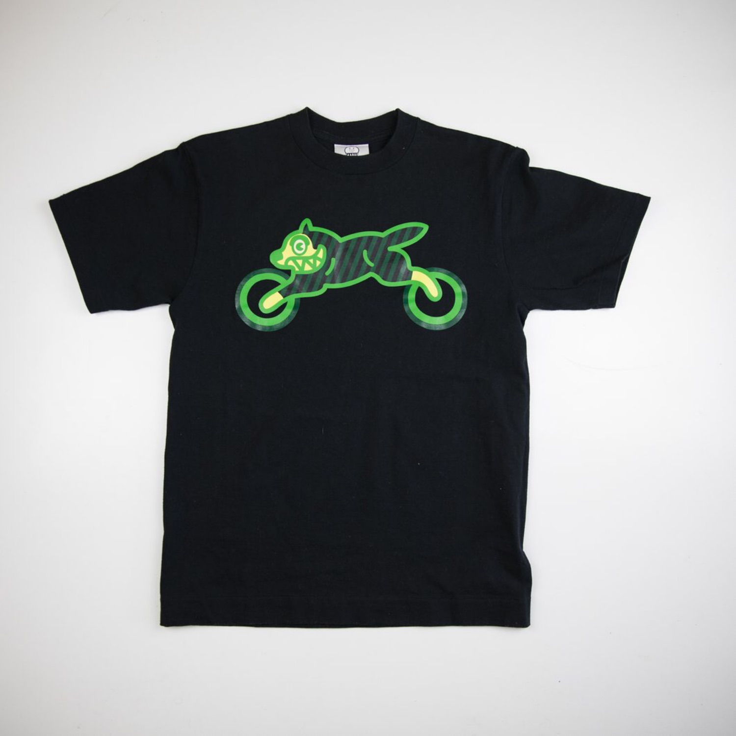 43f591b1 Bbc Running Dog Motorbike Tee Black Green (Used)