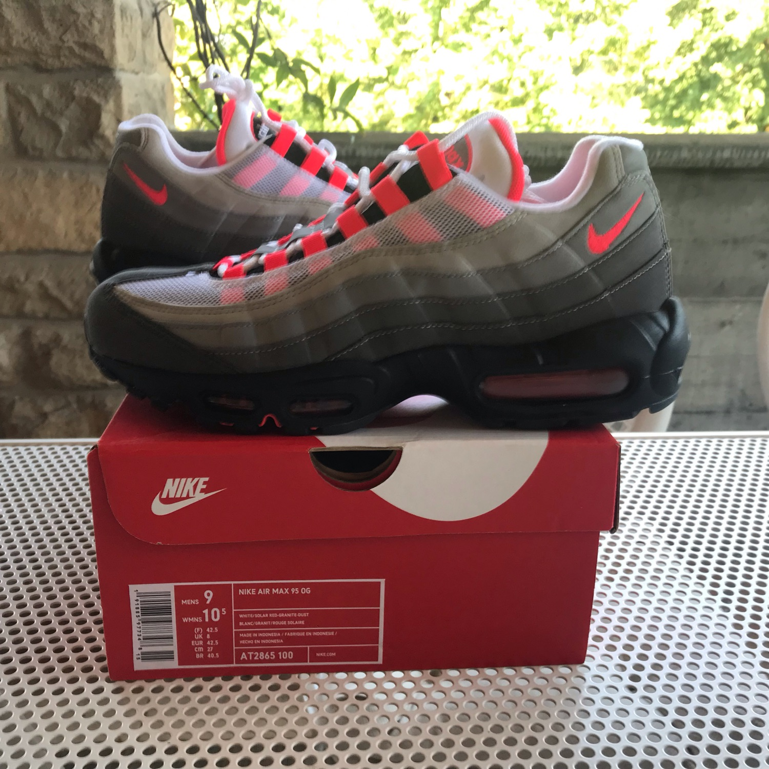 super popular 97bb1 d41e7 Nike Air Max 95 Og Solar Red