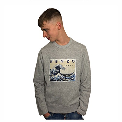 Kenzo Paris Grey Memento Collection 2 Grey Jumpers