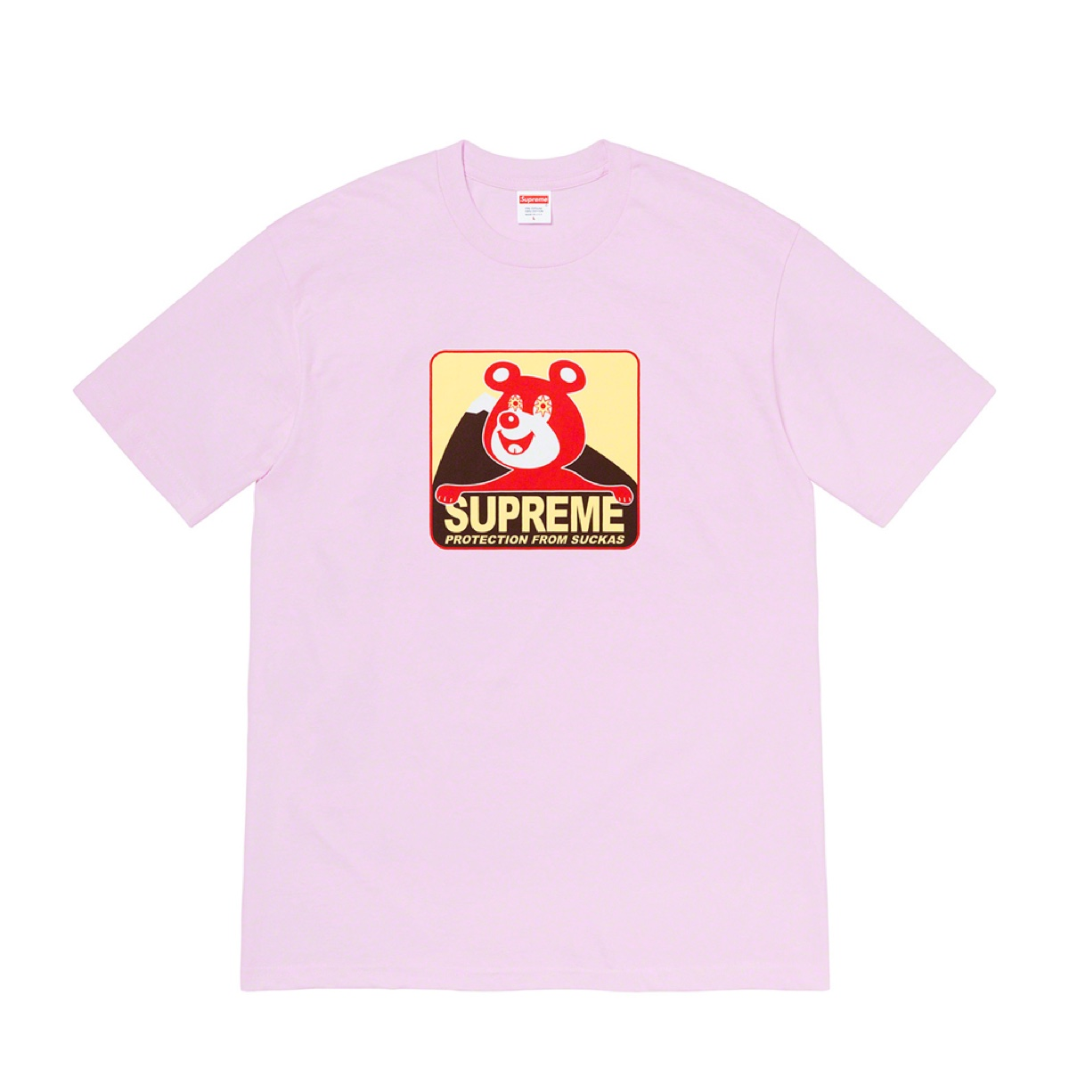 Supreme Bear Tee Light Purple