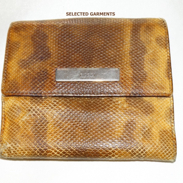 Gucci Python Leather Wallet Very Rare Italian