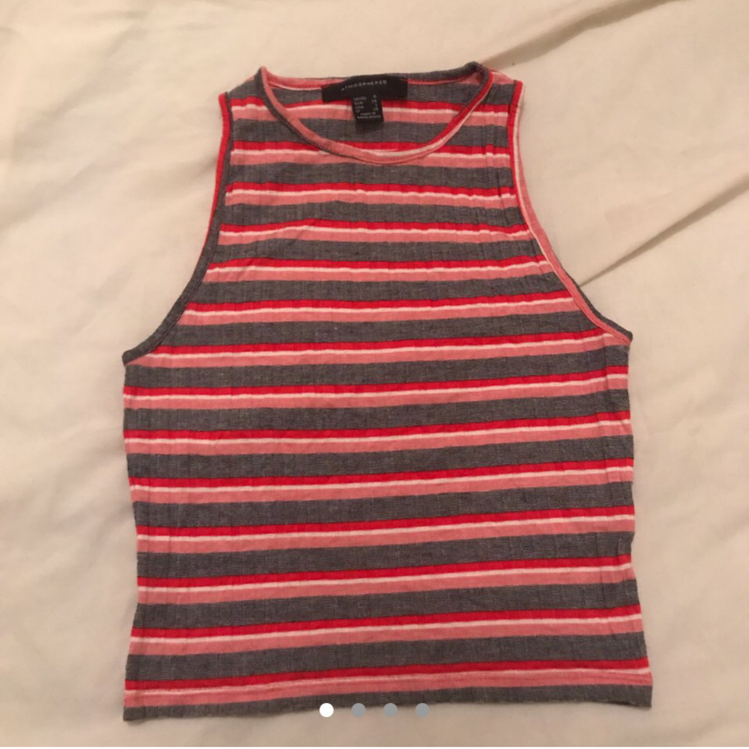 Strip Patterned Crop/Vest Top