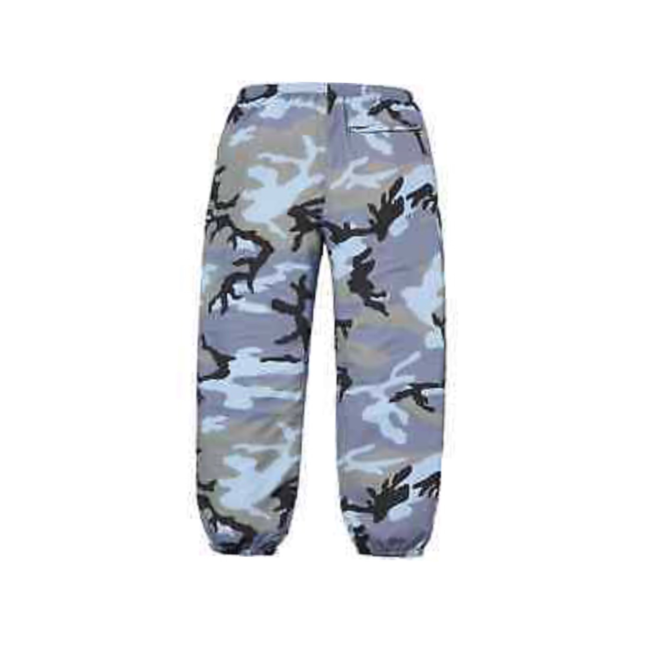 8d6a45695acfa Supreme Warm Up Pant (Ss18) Blue Camo S/M/L
