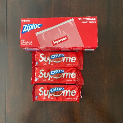 Supreme Ziploc With Supreme Oreo