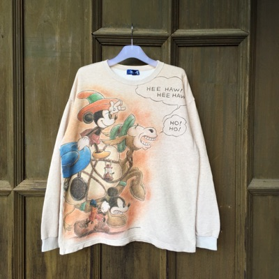 Mickey Mouse Sweatshirt All Over Print.. Cowboy