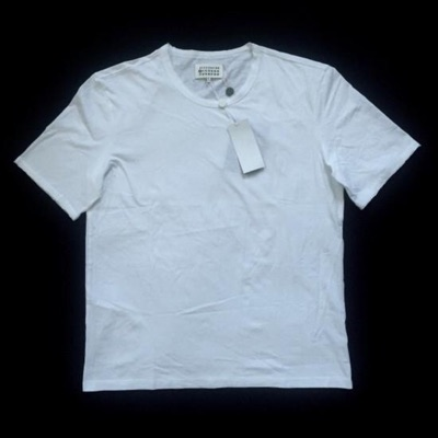 Maison Margiela White Raw Edge Crewneck T Shirt
