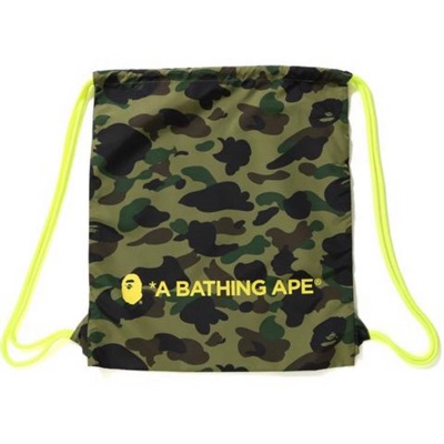 A Bathing Ape 1St Camo Draw-String Bag. Brand New