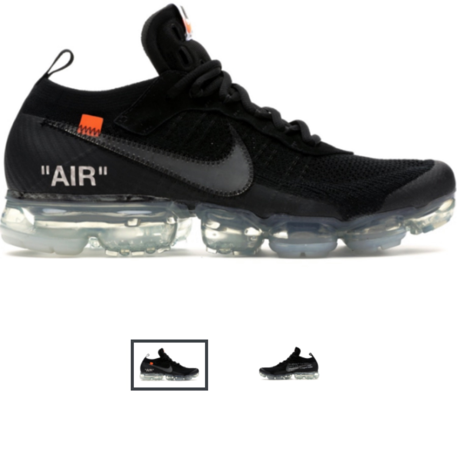 Air Vapormax Nike Off White Black kiuOXPZ