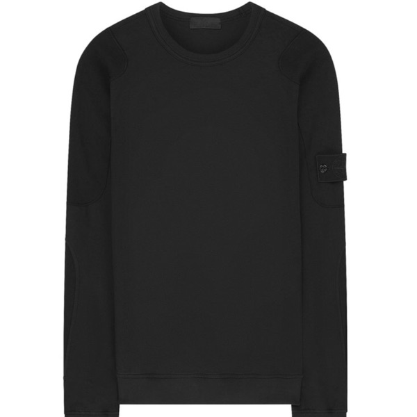 Stone Island Ghost Piece Sweatshirt In Black