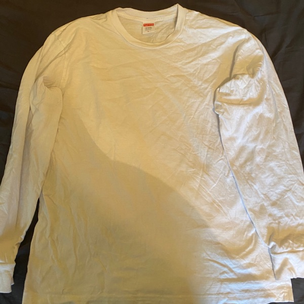 Supreme Large White Long Sleeved T-Shirt