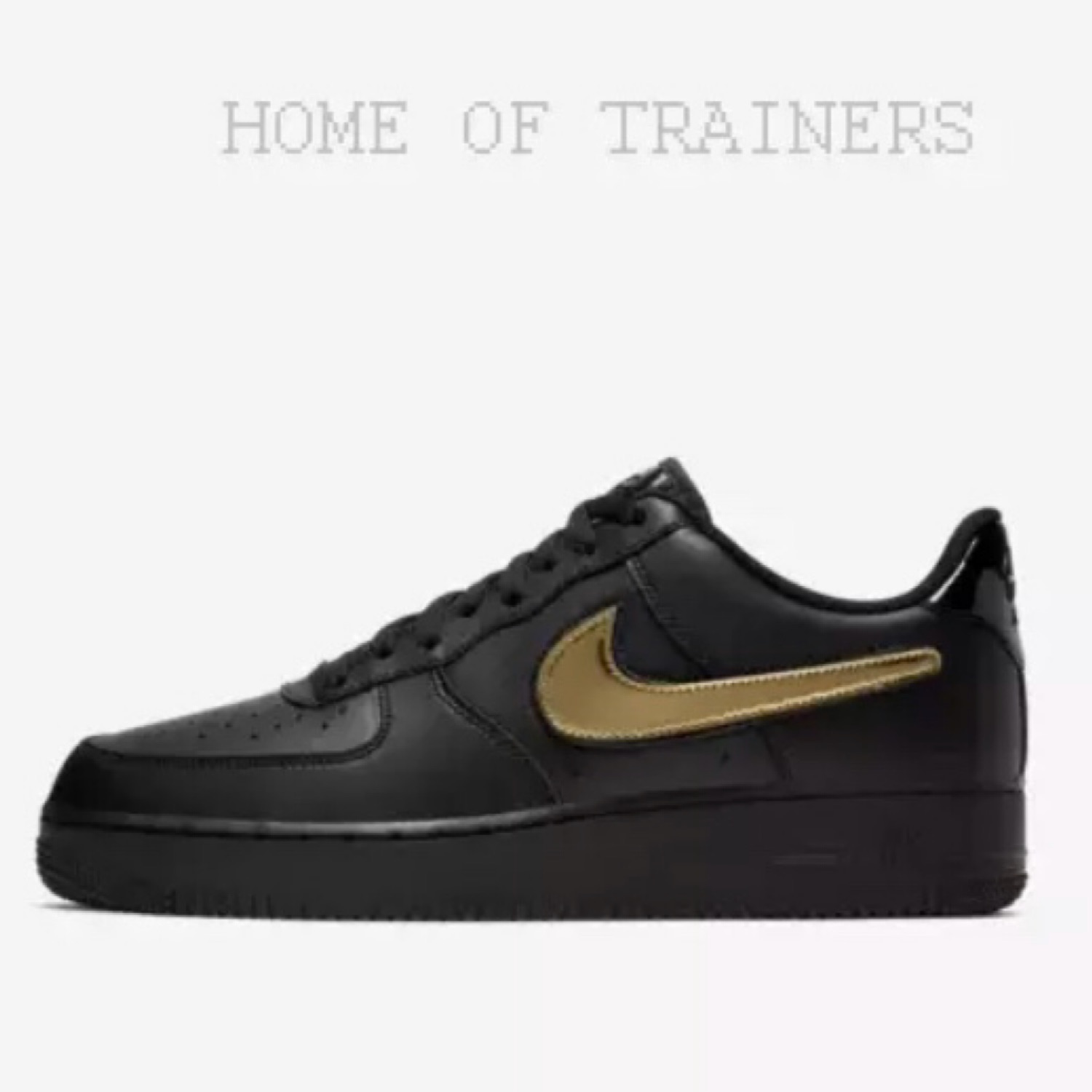 nike air force 1 black and gold