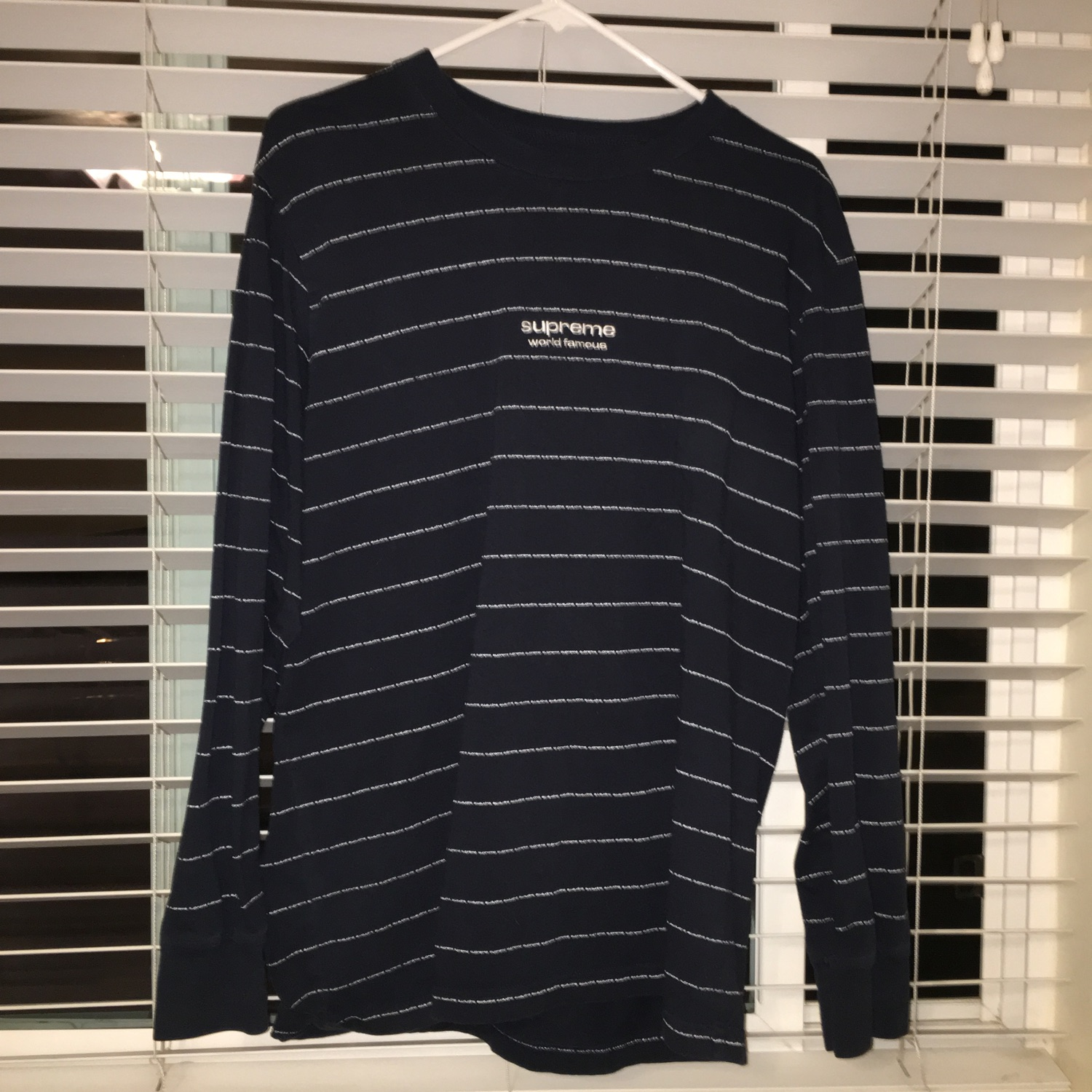 Supreme World Famous Striped Long Sleeve