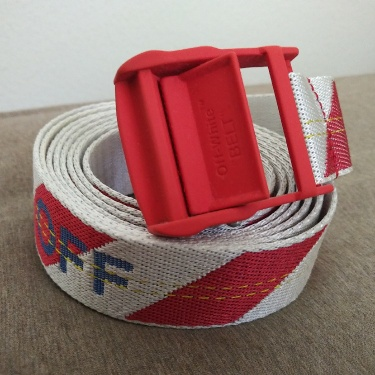 Off White Industrial belt red