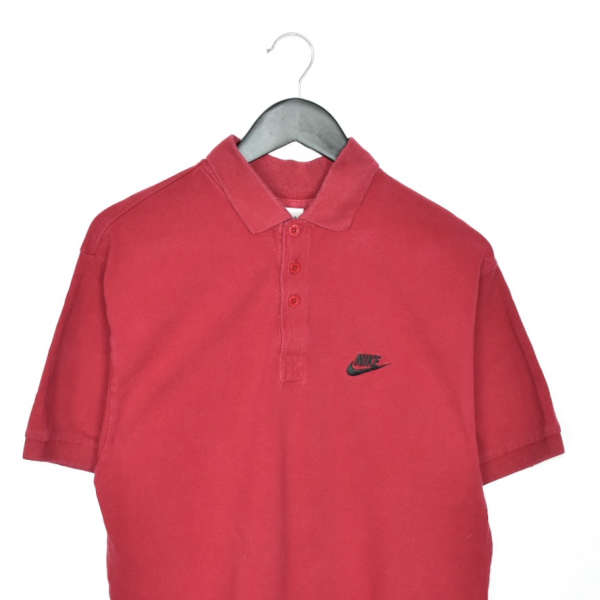 Vintage Nike polo shirt t-shirt pullover in red/maroonish