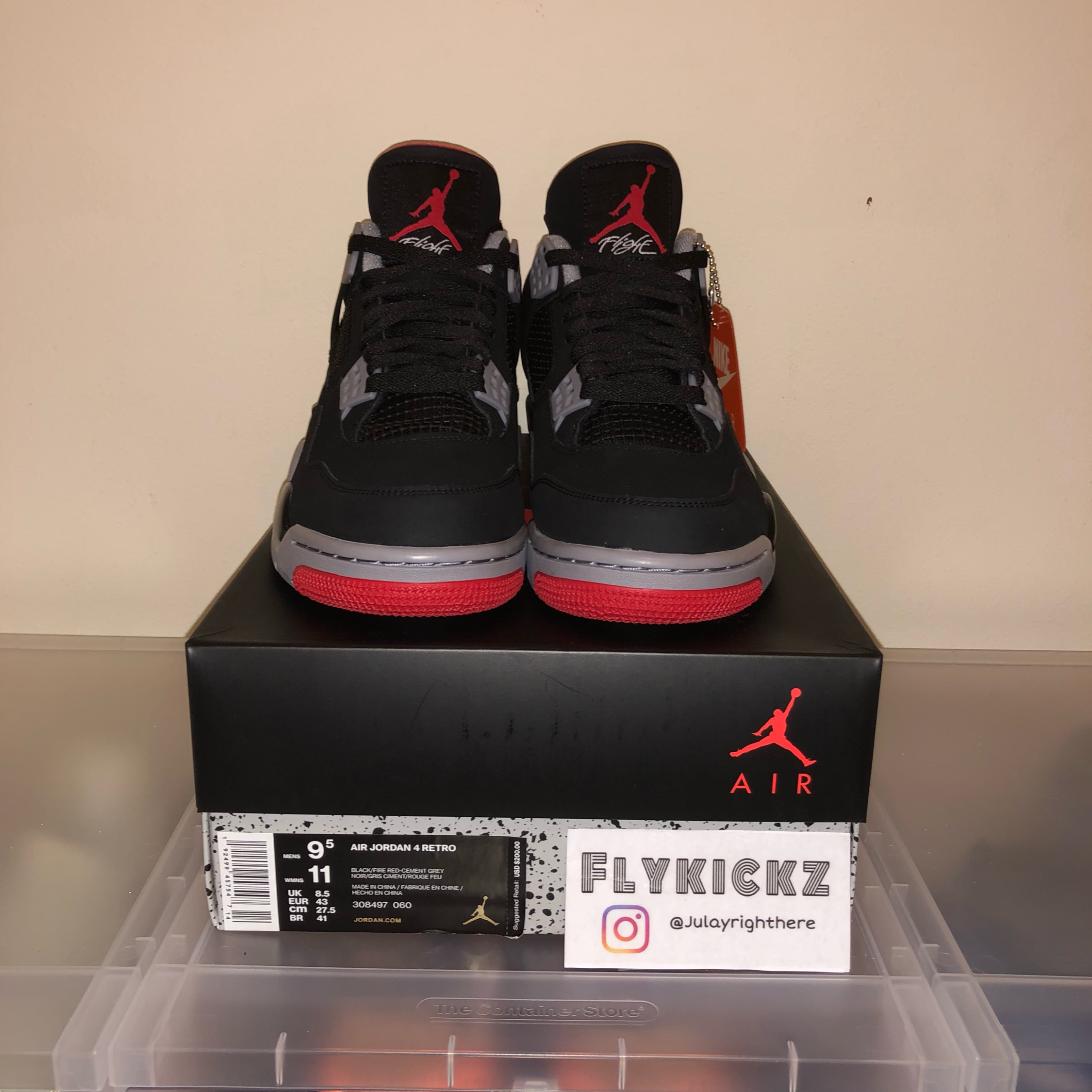 save off 31adc 376a3 Air Jordan 4 Bred Black 2019