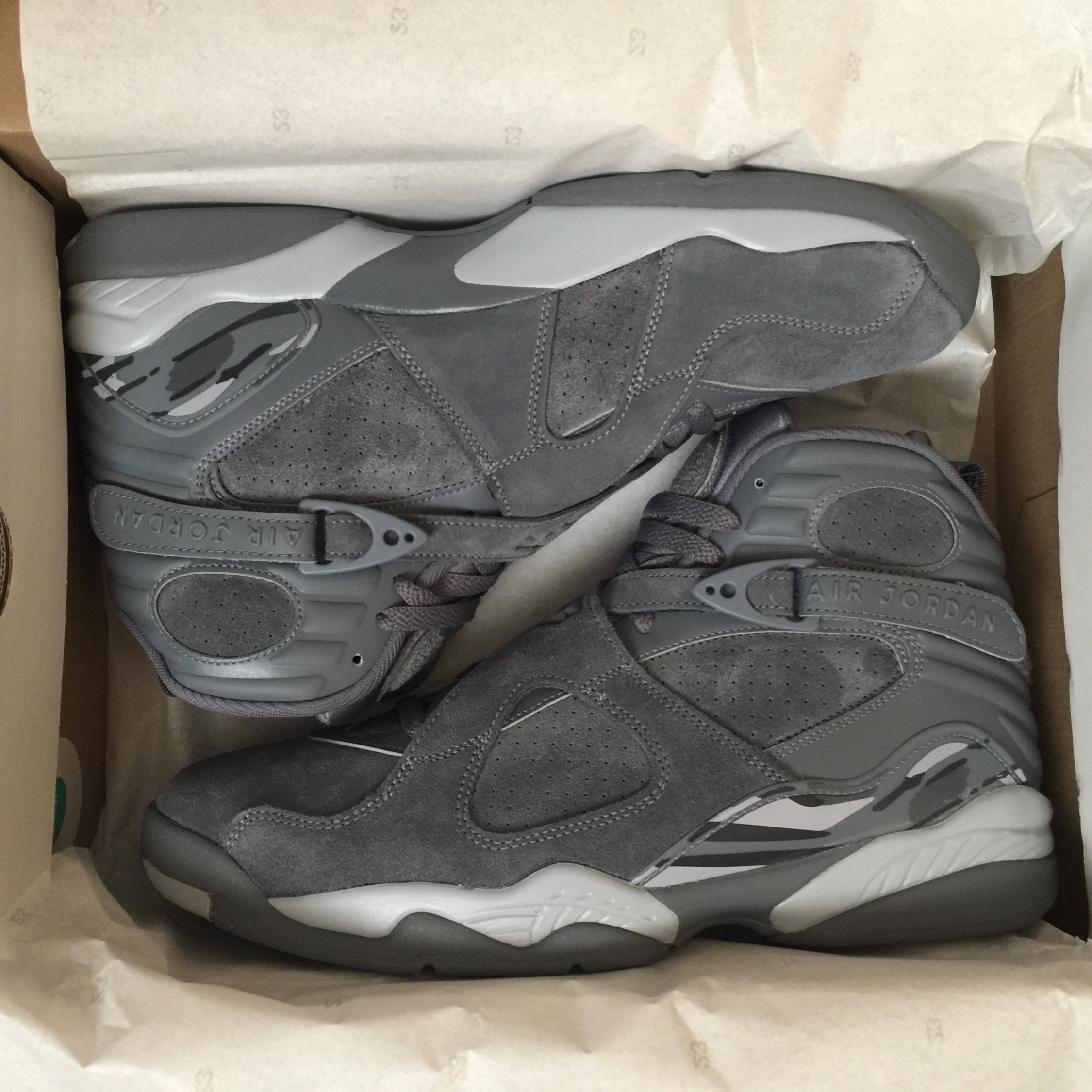 best loved bb8be d6397 Brand New Nike Air Jordan 8 Retro Cool Grey Size 1