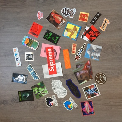 Supreme Stickers Box Logo Accessories Taz Bruce