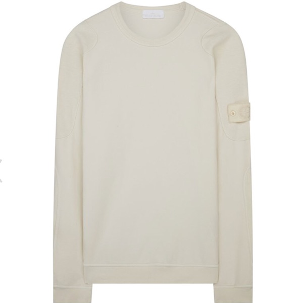 Stone Island Ghost Piece Sweatshirt In Natural