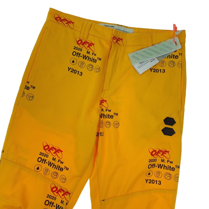 Off-White Yellow Industrial Trousers