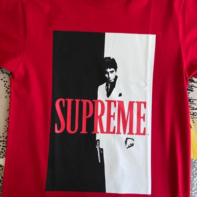 Supreme Scarface Red Tee Size S