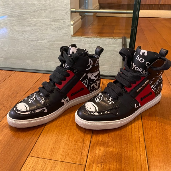Dsquared2 High Top Graffiti Sneakers