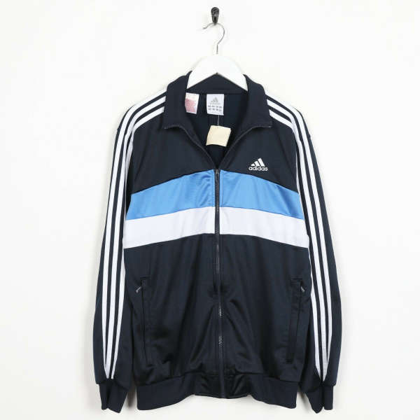 Vintage ADIDAS Small Logo Tracksuit Top Jacket Navy Blue | 15-16 Yrs | Small S