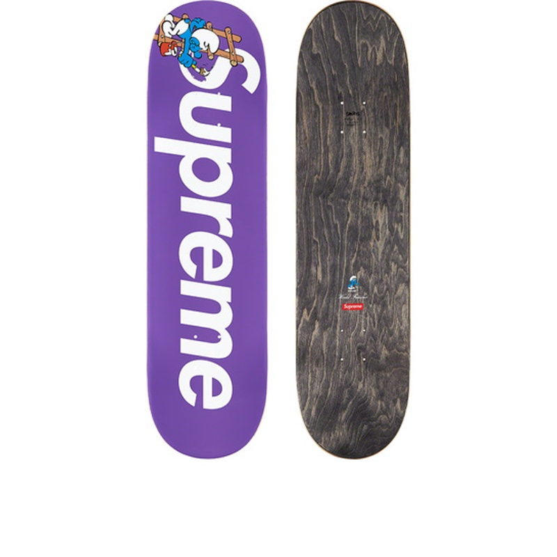 Supreme Smurfs Skateboard Purple