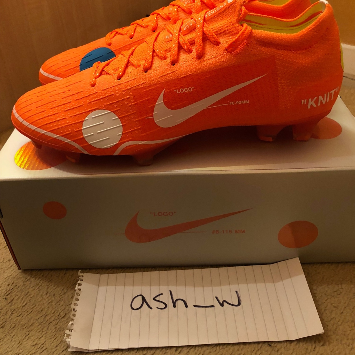 on sale f192f 07fc1 Nike X Off White Mercurial Vapor 360