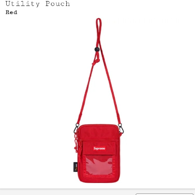 Supreme SS19 Utility Pouch Red