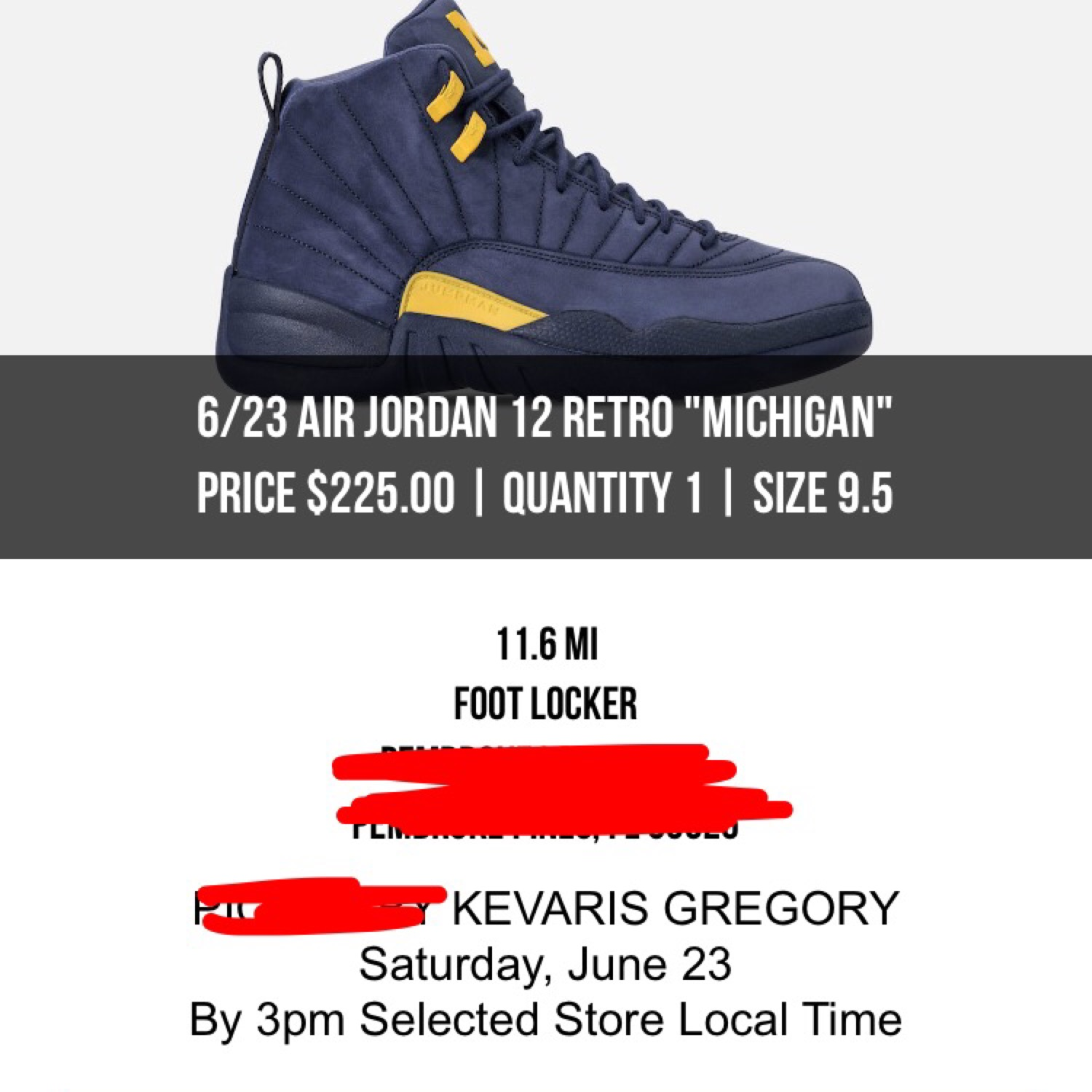 "promo code f9aaa d16d9 Air Jordan Retro 12 ""Michigan"""
