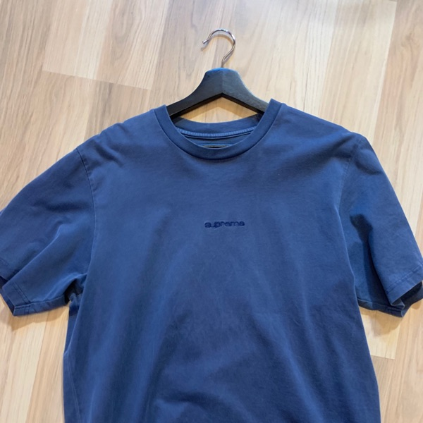 Supreme Overdyed Tee (SS19) Navy