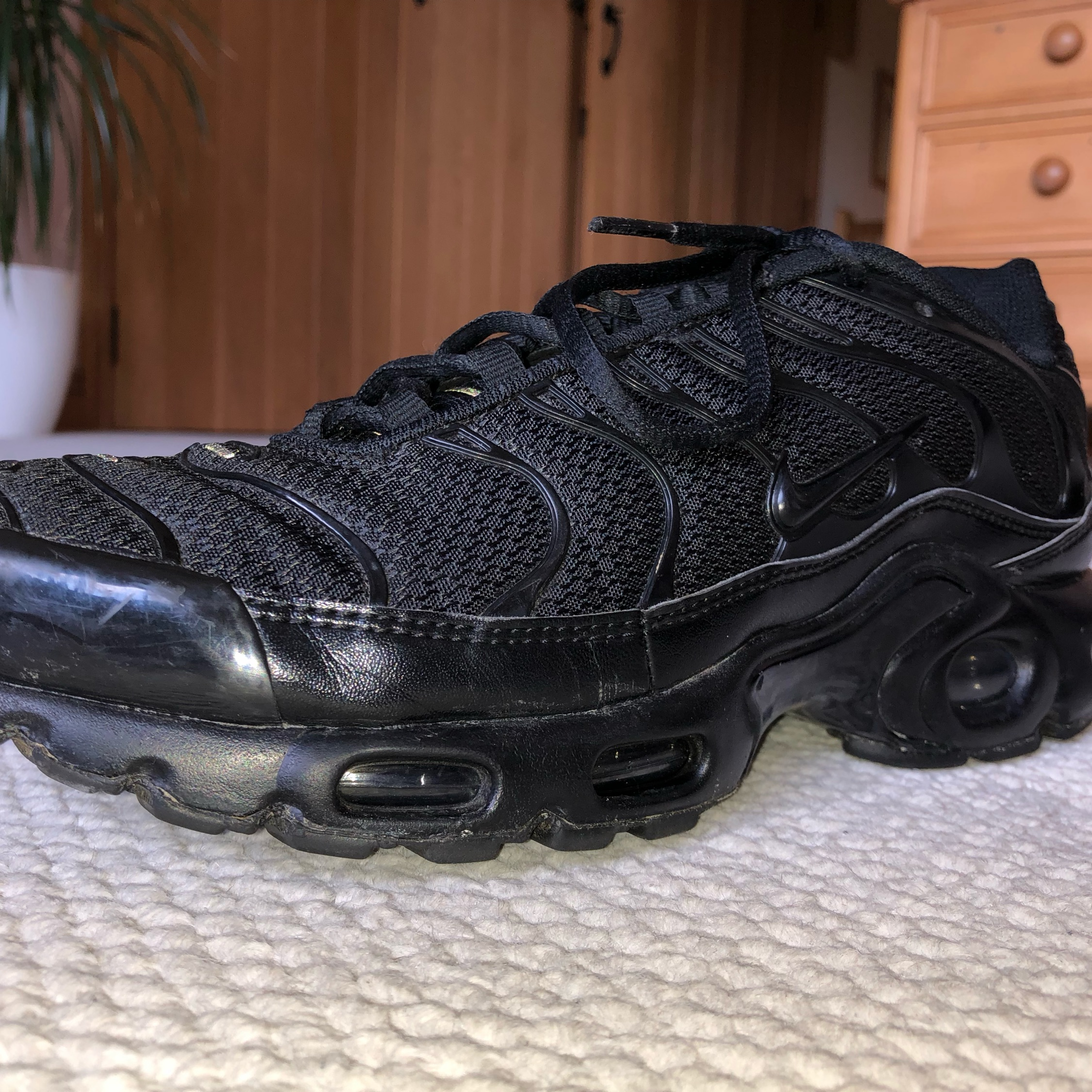 best service 9fe49 0629b Nike Tn Air Max All Black Uk 7