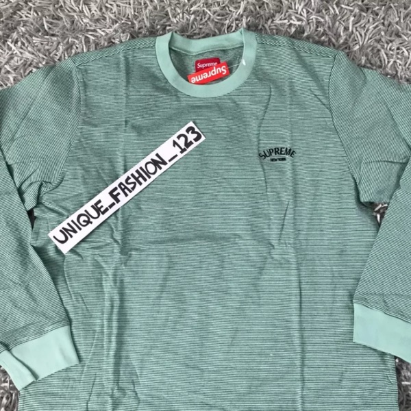 Supreme Micro Stripe Long Sleeve Tee Xl New