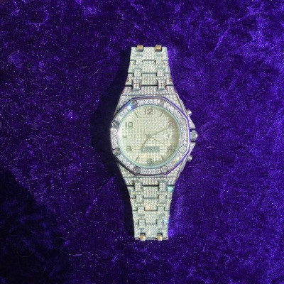 Iced Out Watch Silver